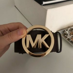 Michael Kors brown leather belt with size small